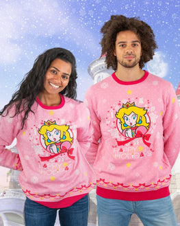 Official Nintendo Princess Peach Christmas Jumper / Ugly Sweater