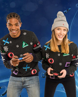 PlayStation Symbols Black Sweater