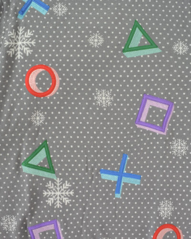 PlayStation Symbols Grey Sweater