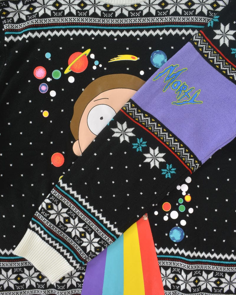 Official Rick & Morty Rainbow Christmas Jumper / Ugly Sweater