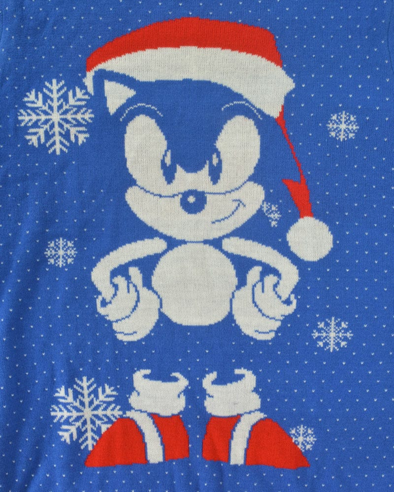 Official Sonic the Hedgehog Sonic Gem Christmas Jumper / Ugly Sweater