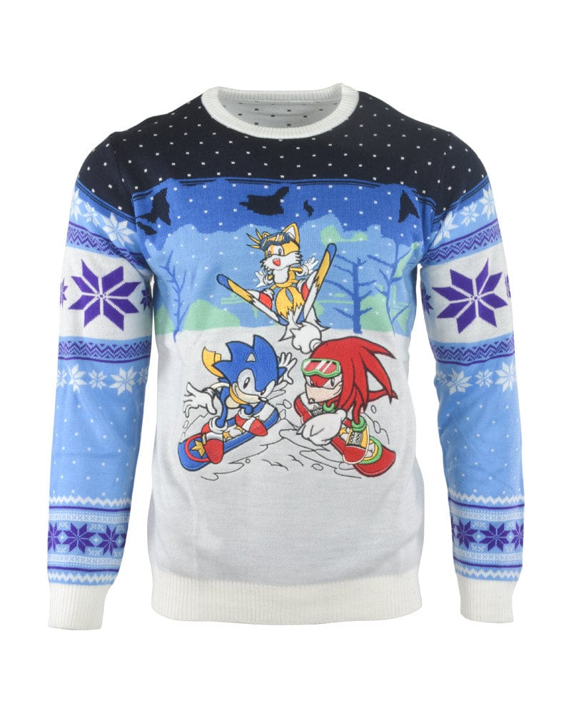 Official Sonic the Hedgehog Skiing Christmas Jumper / Ugly Sweater