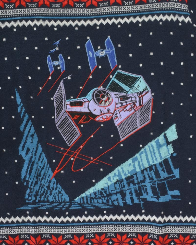 Official Star Wars Tie Fighter Battle of Yavin Christmas Jumper / Ugly Sweater