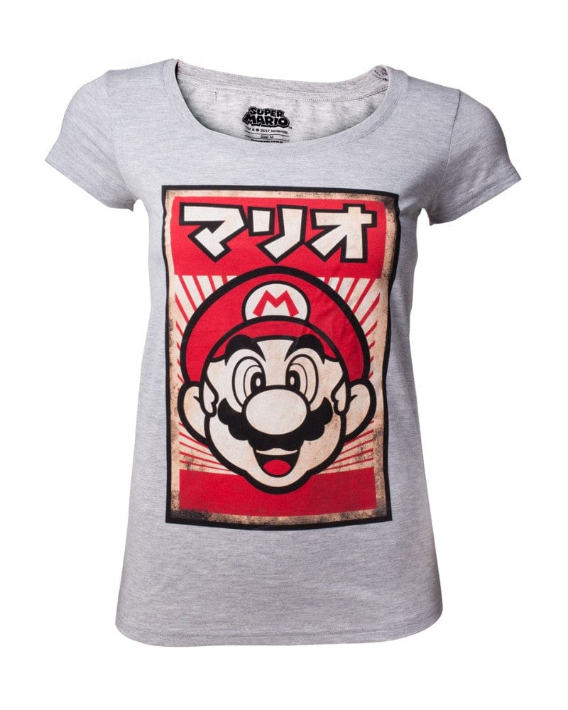 Official Super Mario Japanese Mario Women's T-Shirt