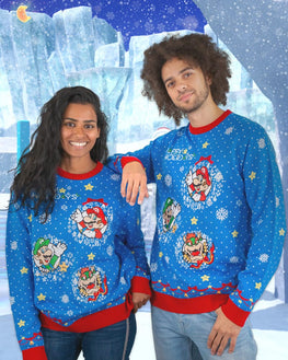 Official Nintendo Super Mario Christmas Jumper / Ugly Sweater