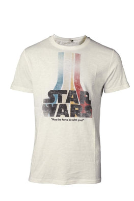Official Star Wars Retro Rainbow Logo T-Shirt