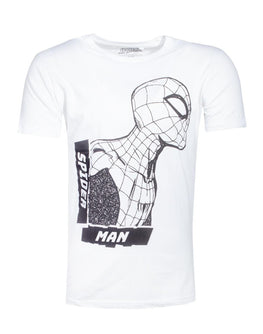 Official Spider-Man Side View Spidey White Men's T-shirt