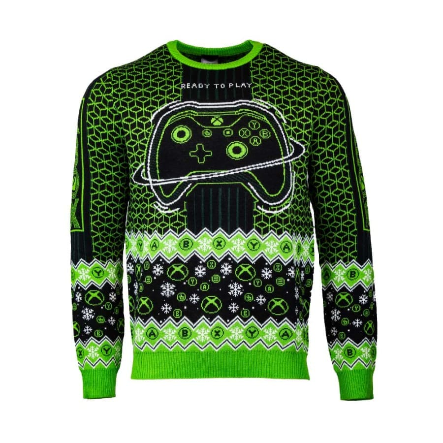 Official Xbox 'Ready to Play' Christmas Jumper / Ugly Sweater - XL (UK / EU) / L (US)