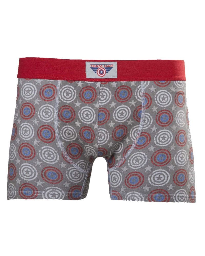 Official Marvel Captain America Team Cap Boxer Shorts / Boxers