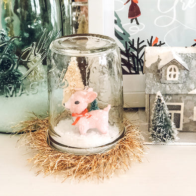 DIY: A simple + sweet winter snow globe