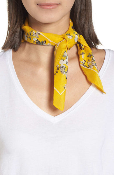 spring fashions yellow scarf