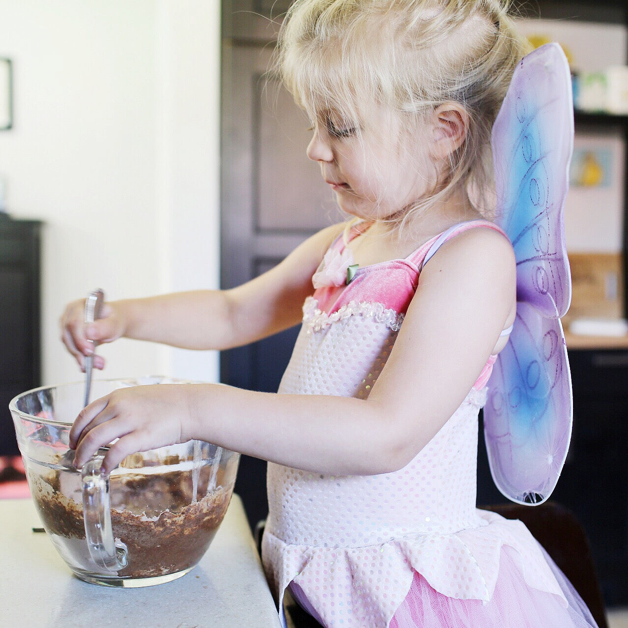 baking vegan with kids