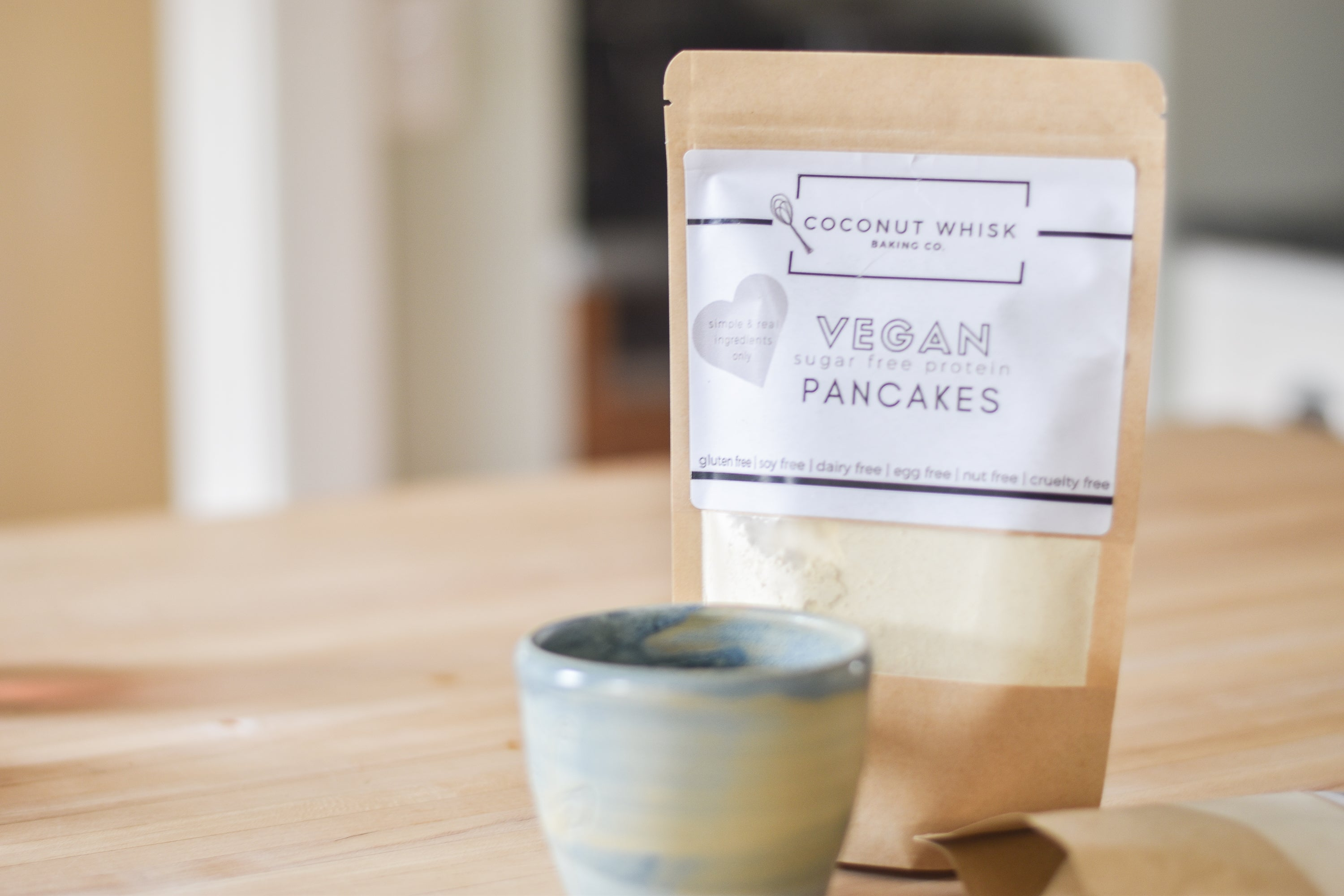 vegan baking mix company coconut whisk