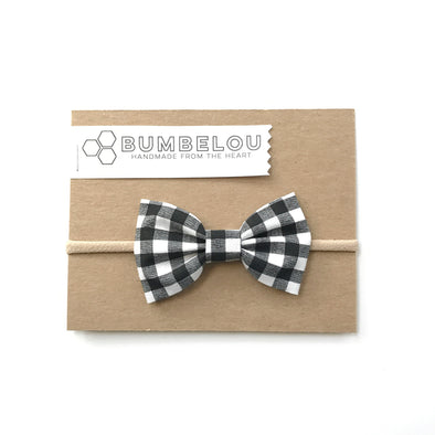 Classic Fabric Bow  - Buffalo B&W
