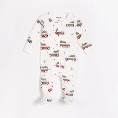 Home for the Holidays Organic Cotton Footie