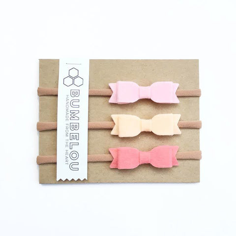 Mini Bows - Pink, Peach, Coral
