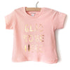Little Lark - Glad To Be Here Shirt, Peach with Gold Foil