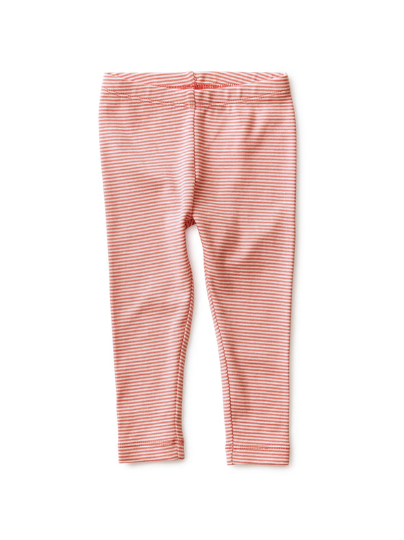 Striped Baby Leggings - Desert Rose
