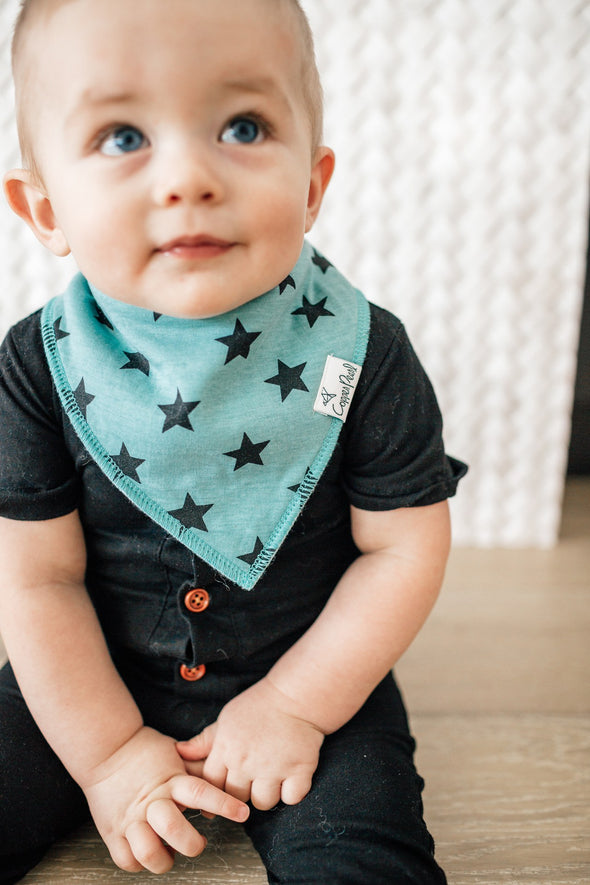 Baby Bandanna Bib Set of 4 - Varsity
