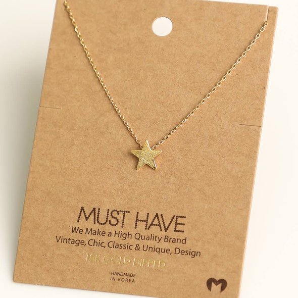 Mini Star Charm Pendant Necklace