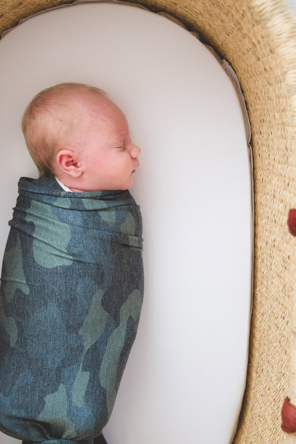 Knit Swaddle Blanket - Hunter