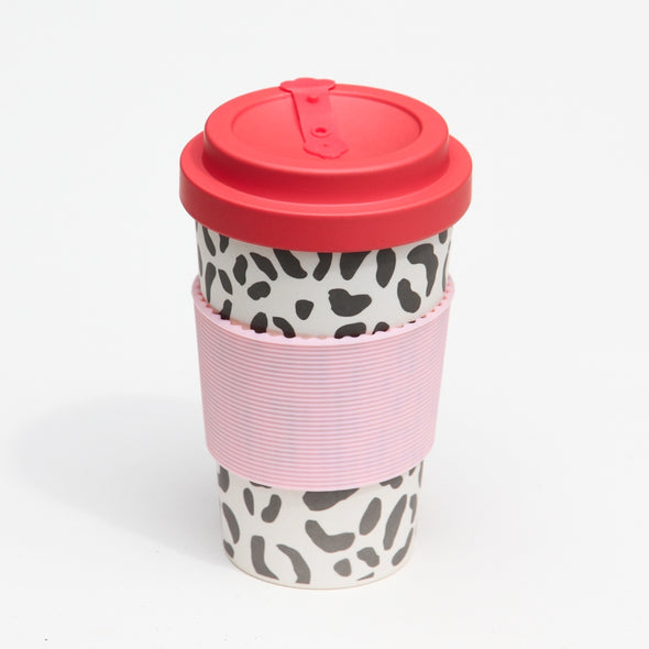 Leopard Bamboo Coffee Cup