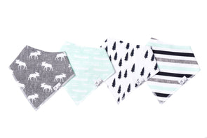 Baby Bandanna Bib Set of 4 - Scout