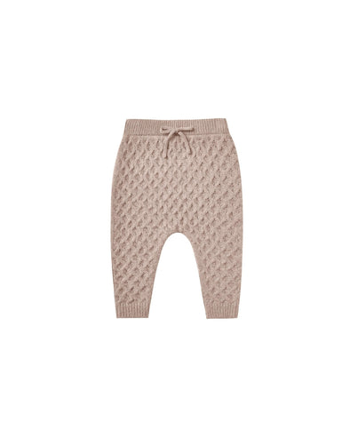 Gable Pant - Honeycomb sweater knit in oat