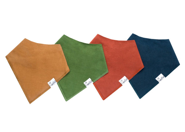 Baby Bandanna Bib Set of 4 -Ridge