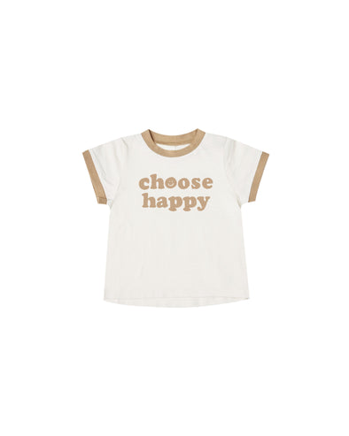 Choose Happy Ringer Tee
