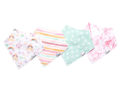 Baby Bandanna Bib Set of 4 - Enchanted