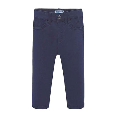 Basic Navy Slim Fit Pants