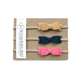 Mini Bows - Camel, Navy, Coral
