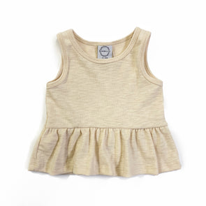 Peplum Tank - Cream Knit
