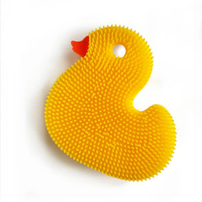 Squigee Silicone Bath Duck-Yellow