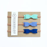 Mini Bows - Mint, Periwinkle, Marine