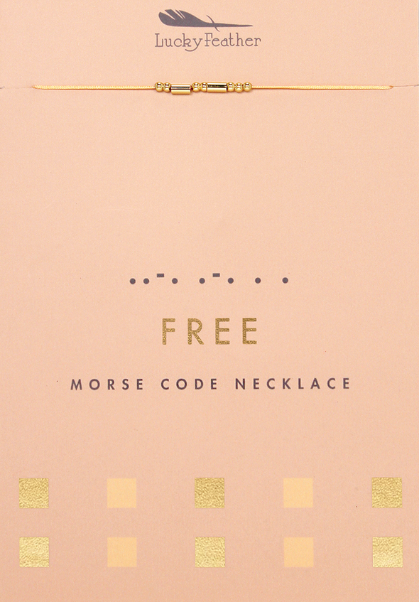 Free Morse Code Necklace