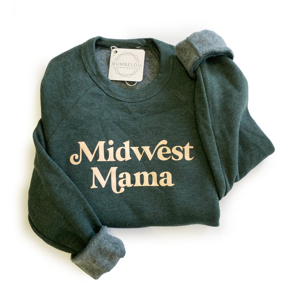 Midwest Mama Forest Green Sweatshirt