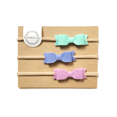 Mini Bows - Mint, Periwinkle, Lilac