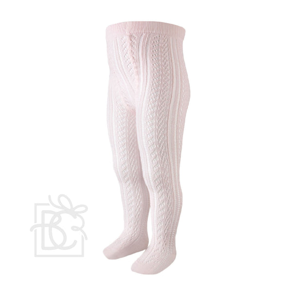 Lace Openwork Tights Soft Pink