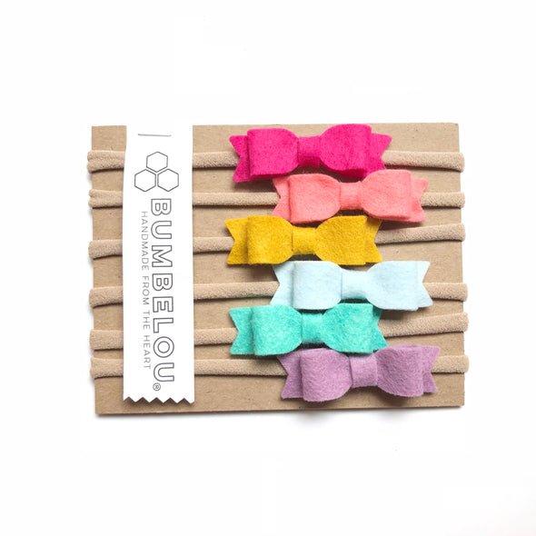 Mini Bows - Rainbow Set
