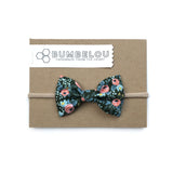 Classic Fabric Bow  - Rosa Hunter Rifle Paper Co.  - Headband OR Clip