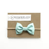 Classic Fabric Bow  - Robin's Egg Blue