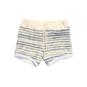 Sun Shorts - Sky Stripe French Terry