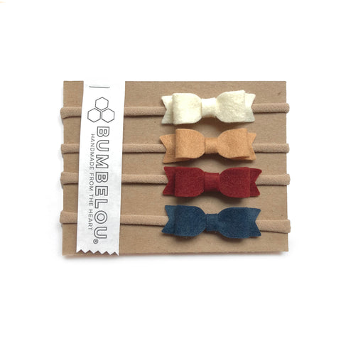 Mini Bows - Warm Neutrals