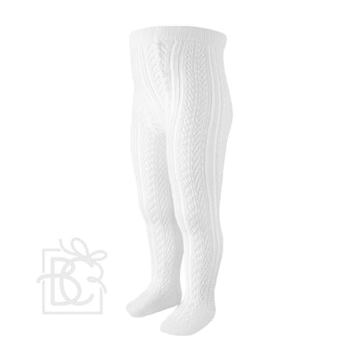 Lace Openwork Tights White