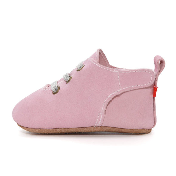 Zuntano Pink Suede Baby Shoes