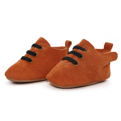 Zuntano Tan Oxford Suede Baby Shoes