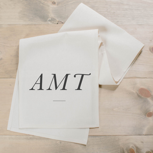 Personalized Monogram Table Runner