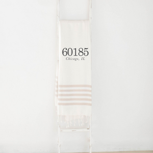 Personalized Zip Code Throw Blanket